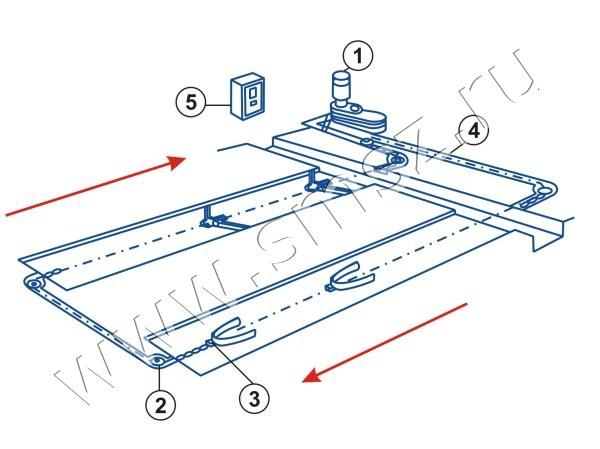 Схема привода ТСГ 170.100